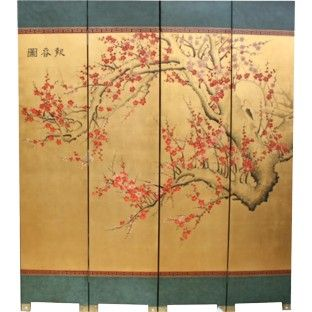 Oriental Cherry Blossom Hand Made Room Divider D Dimension 160 w