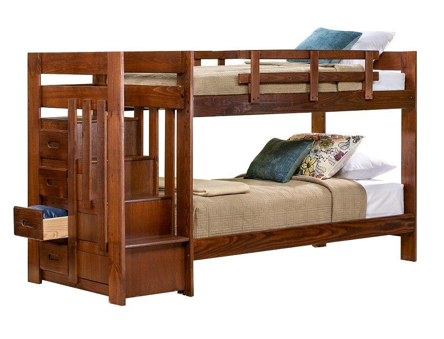 slumberland tanglewood collection choc tw tw stair Slumberland Bunk Beds id=40722