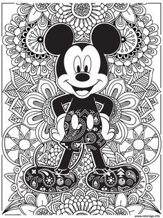 Coloriage Mandala Disney Mickeymouse Hd Dessin A Imprimer