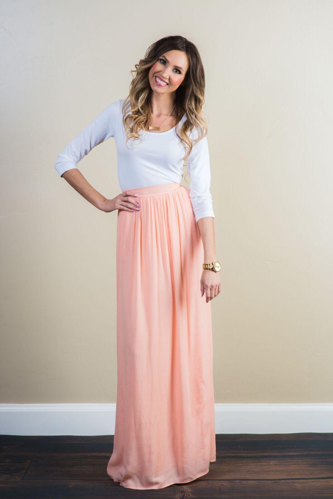 5faffa59e6 I NEED this skirt!! Demi Chiffon Maxi Skirt