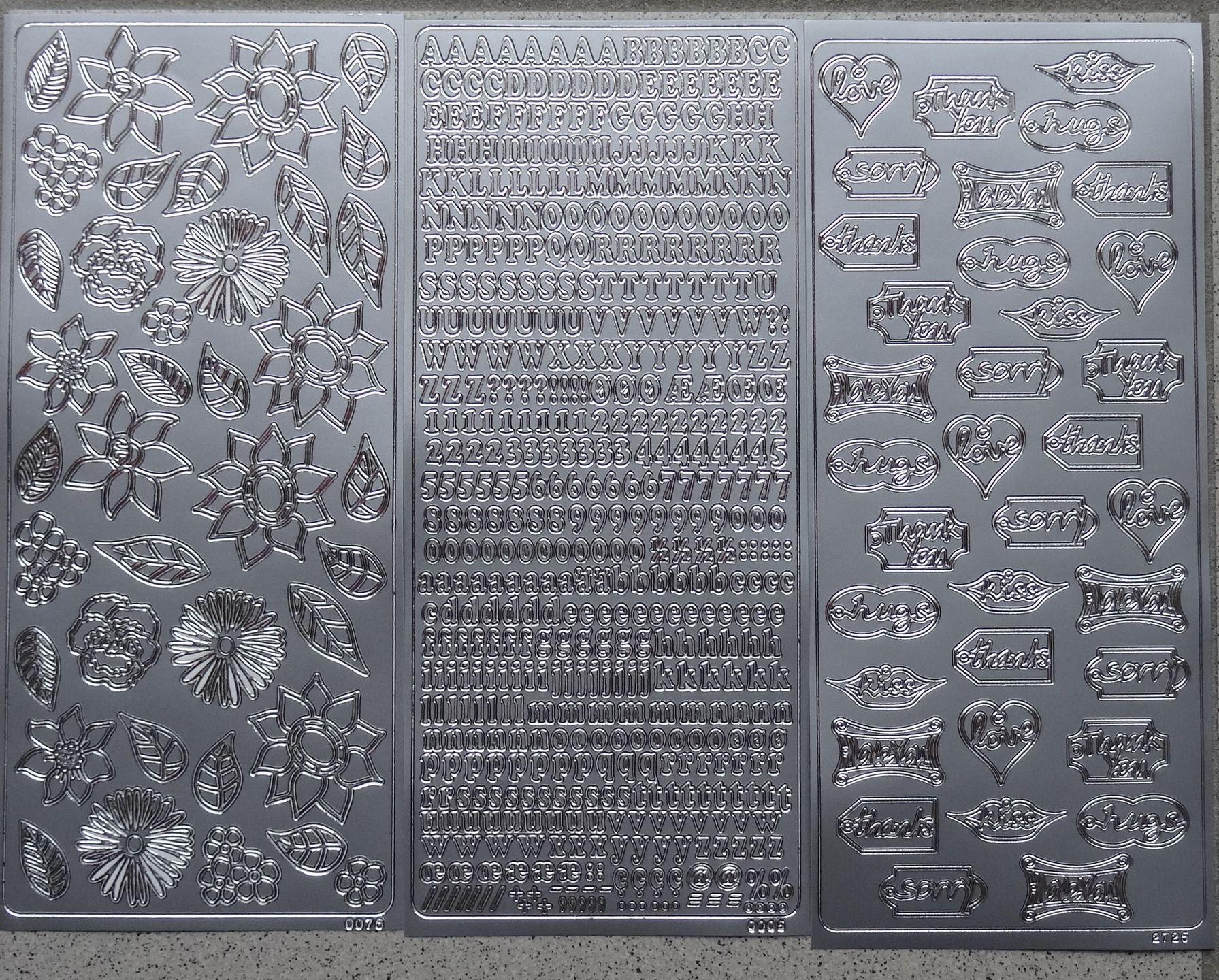 Lot de 3 planches de stickers Peel off pour scrapbooking ou carterie : Stickers, autocollants par happy-scrap-arts