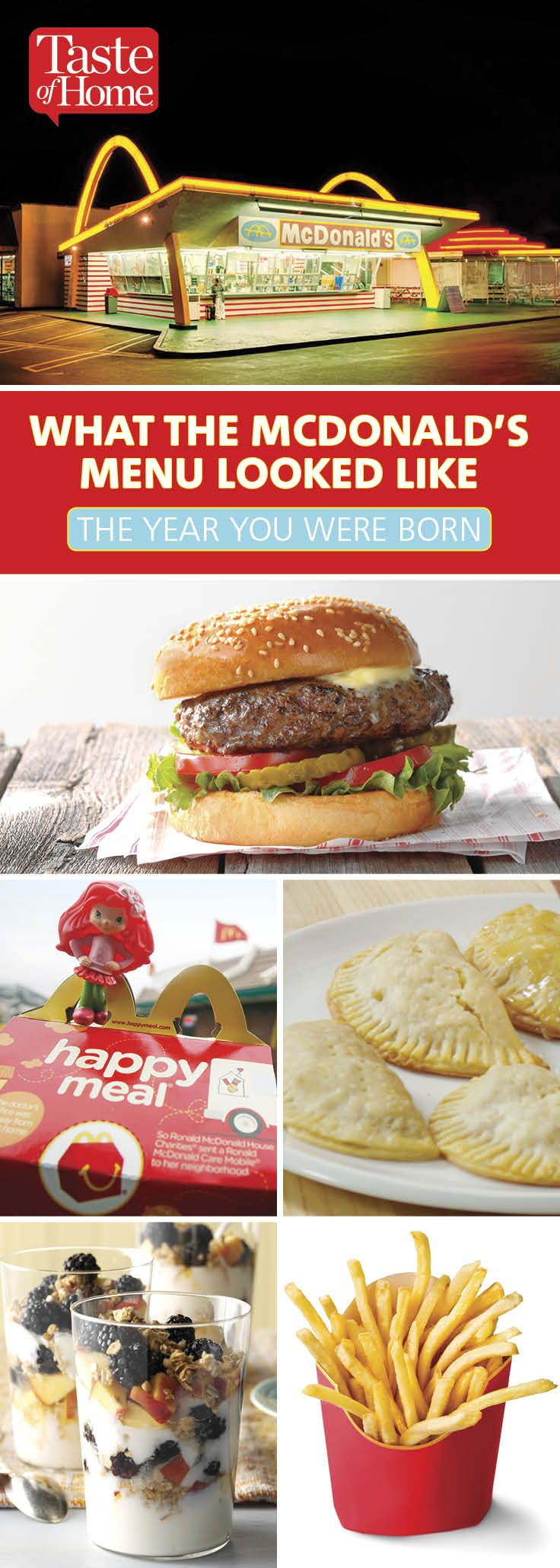 What the McDonald's Menu Looked Like the Year You Were