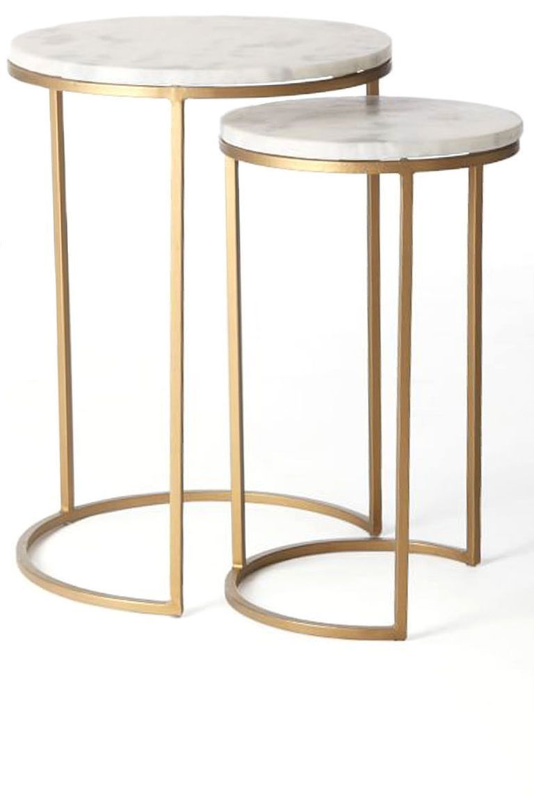 40 Unique Wedding Gifts To Buy Now Even If They Aren T On The Registry Marble Side Tables Side Table Nesting Tables [ 1152 x 768 Pixel ]