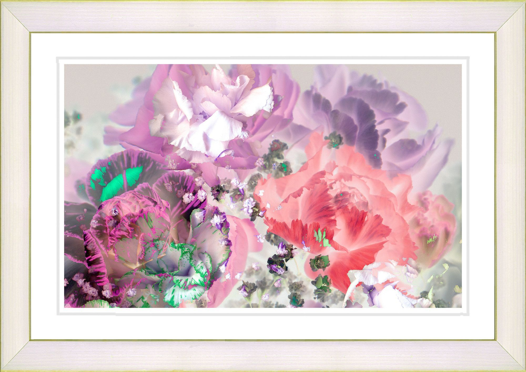 Pastel scented bloom by zhee singer framed fine art giclee painting