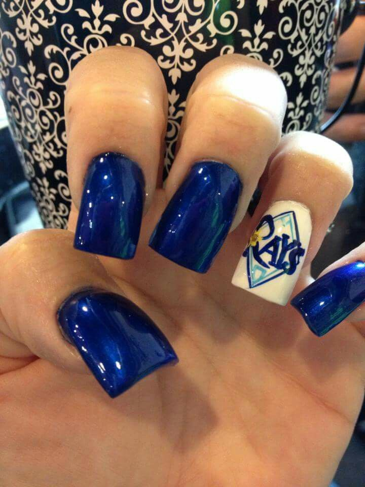 Tampa Bay Rays nails by Kelly Ambrosio! | My nails by Kelly Ambrosio ...