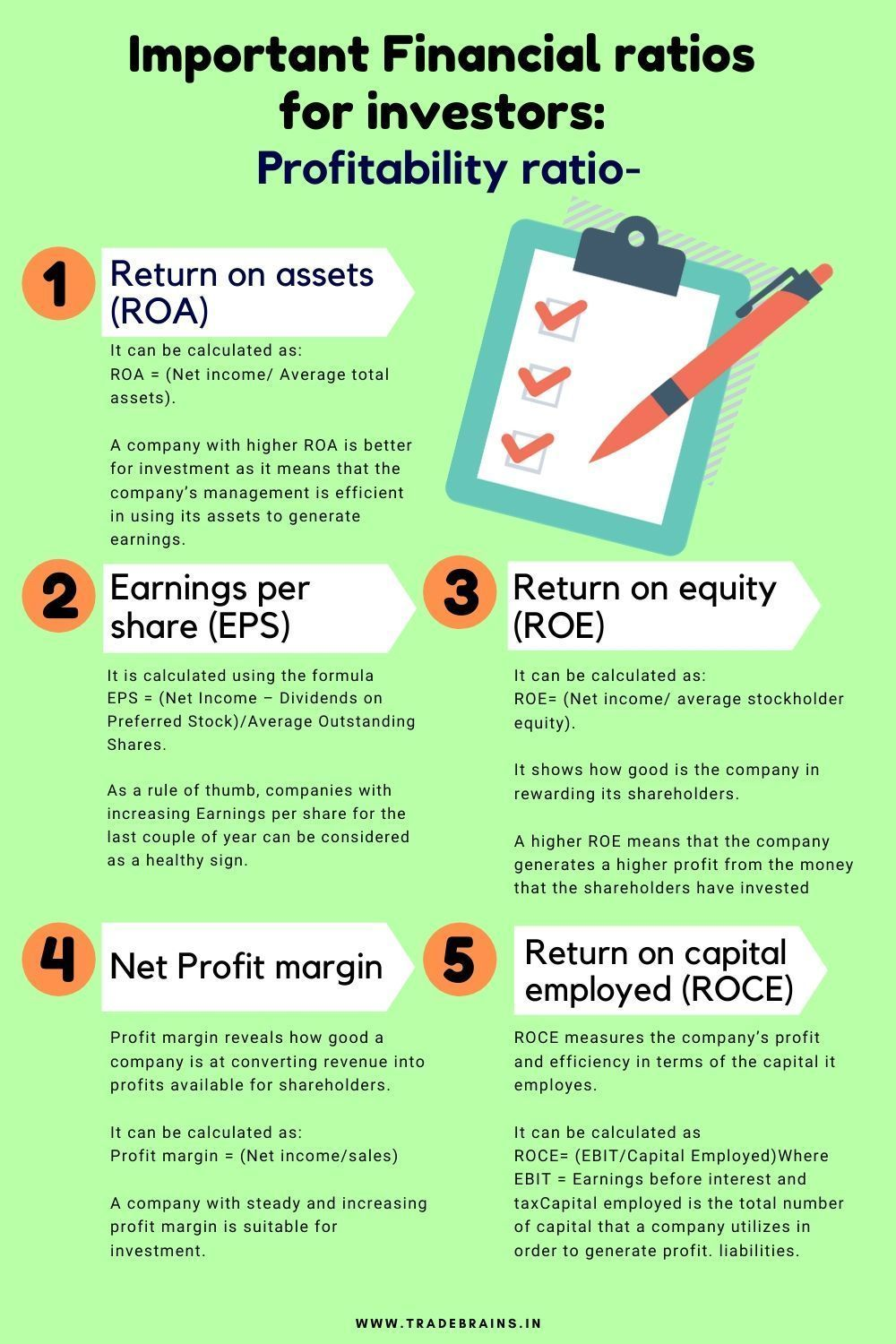 5 Simple Financial Ratios For Stock Picking Stock Market Investing Ideas Of Stock Market Investin Financial Ratio Finance Investing Money Management Advice