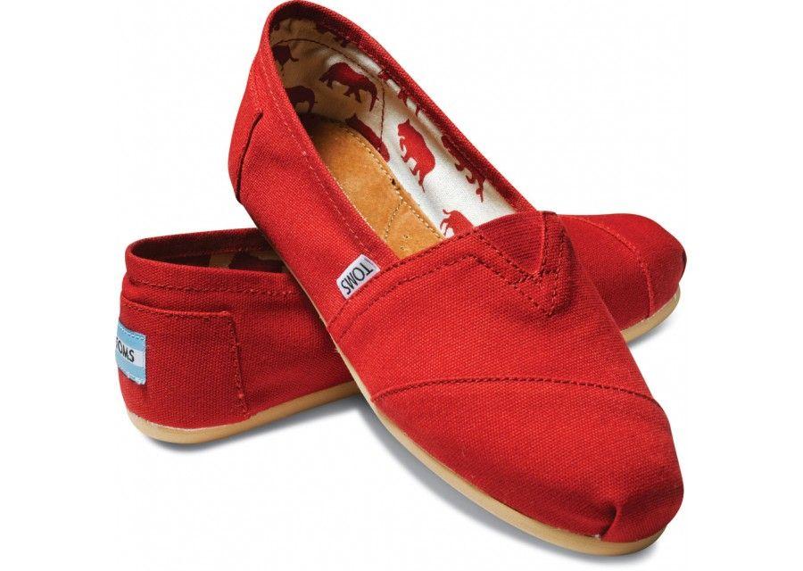 Zapatos rojos Toms para mujer SsREmzMbI