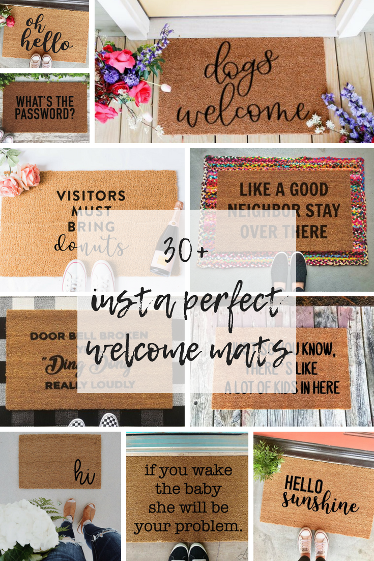 Instagram Perfect Welcome Mats Have The Most Talked About Porch 30 Ideas For Layering Welcome Mats Homedecor Porchdec Door Mat Diy Welcome Mats Porch Mat