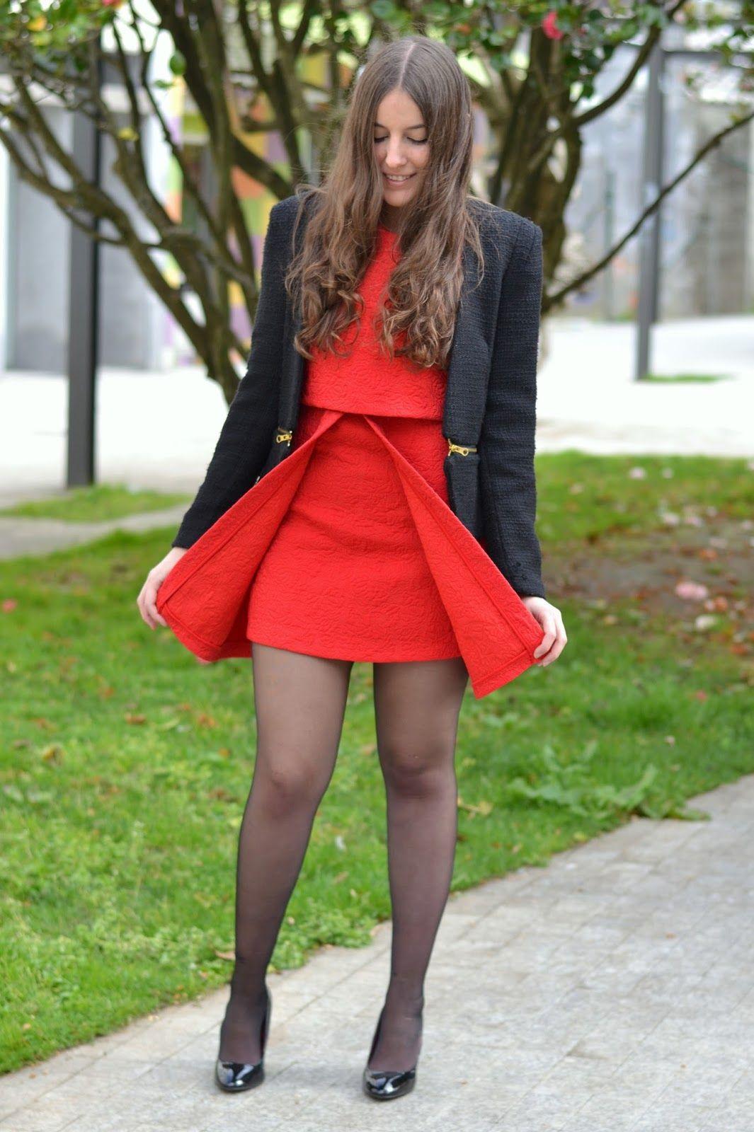 Como Combinar Un Vestido Rojo Bacaklar