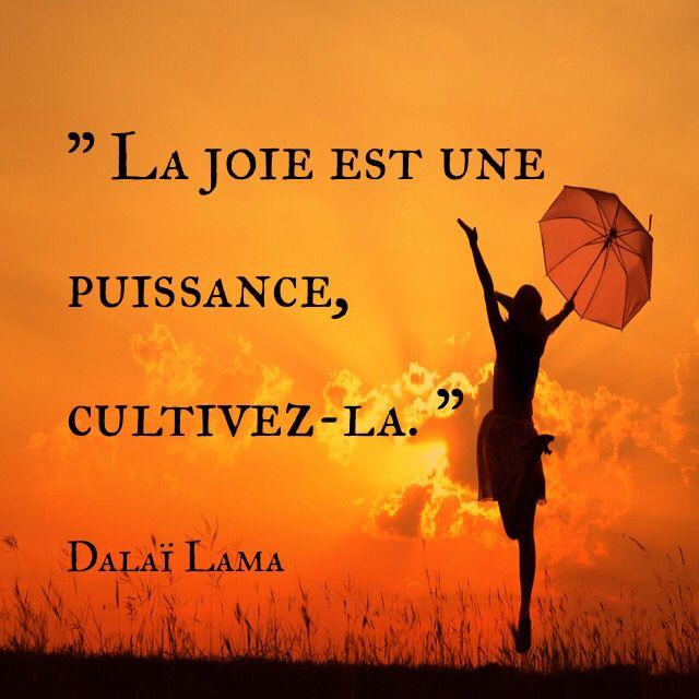 La Joie Est Une Puissance Cultivez La Dalai Lama Citations Joie Citation De Joie Citation