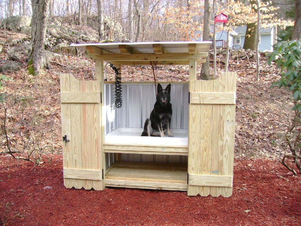 Dirty dog wash plus dogs landscaping ideas pinterest dog get dad to help us build this awesome dog wash station outside solutioingenieria Gallery