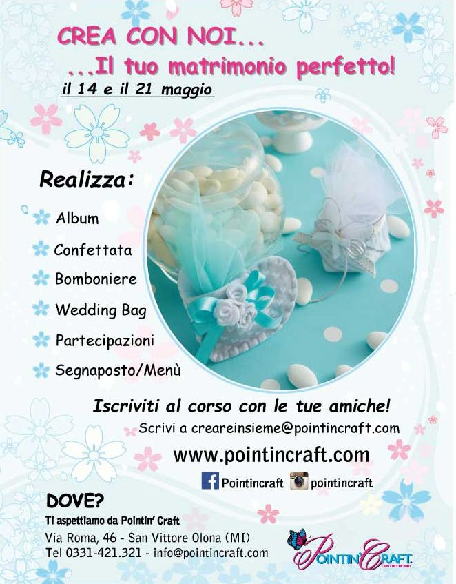 #wedding #matrimonio #perfetto #perfectday #pointincraft #corsocreativo http://www.pointincraft.eu/it/corsi-creativi/3003-corso-crea-il-tuo-matrimonio-perfetto.html