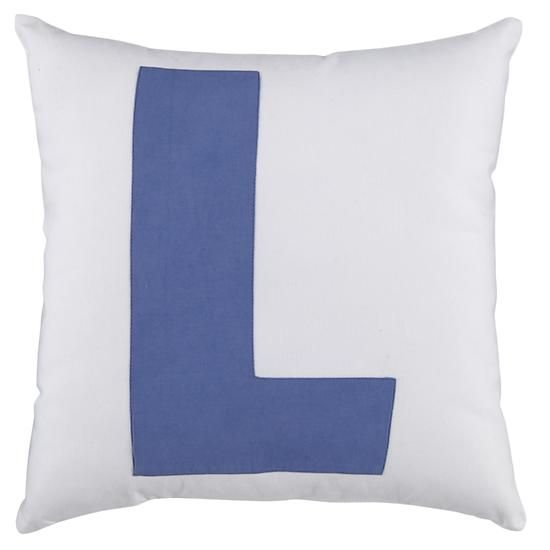 The Land of Nod | Kids Throw Pillows: Letter L Throw ...