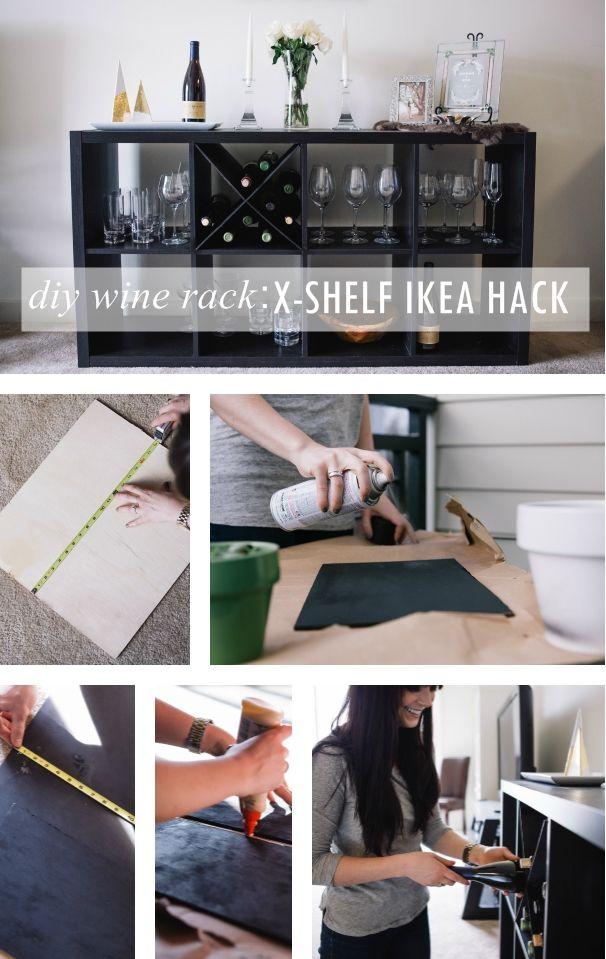 Diy Wine Rack An X Shelf Ikea Hack Dining Furniture Makeover