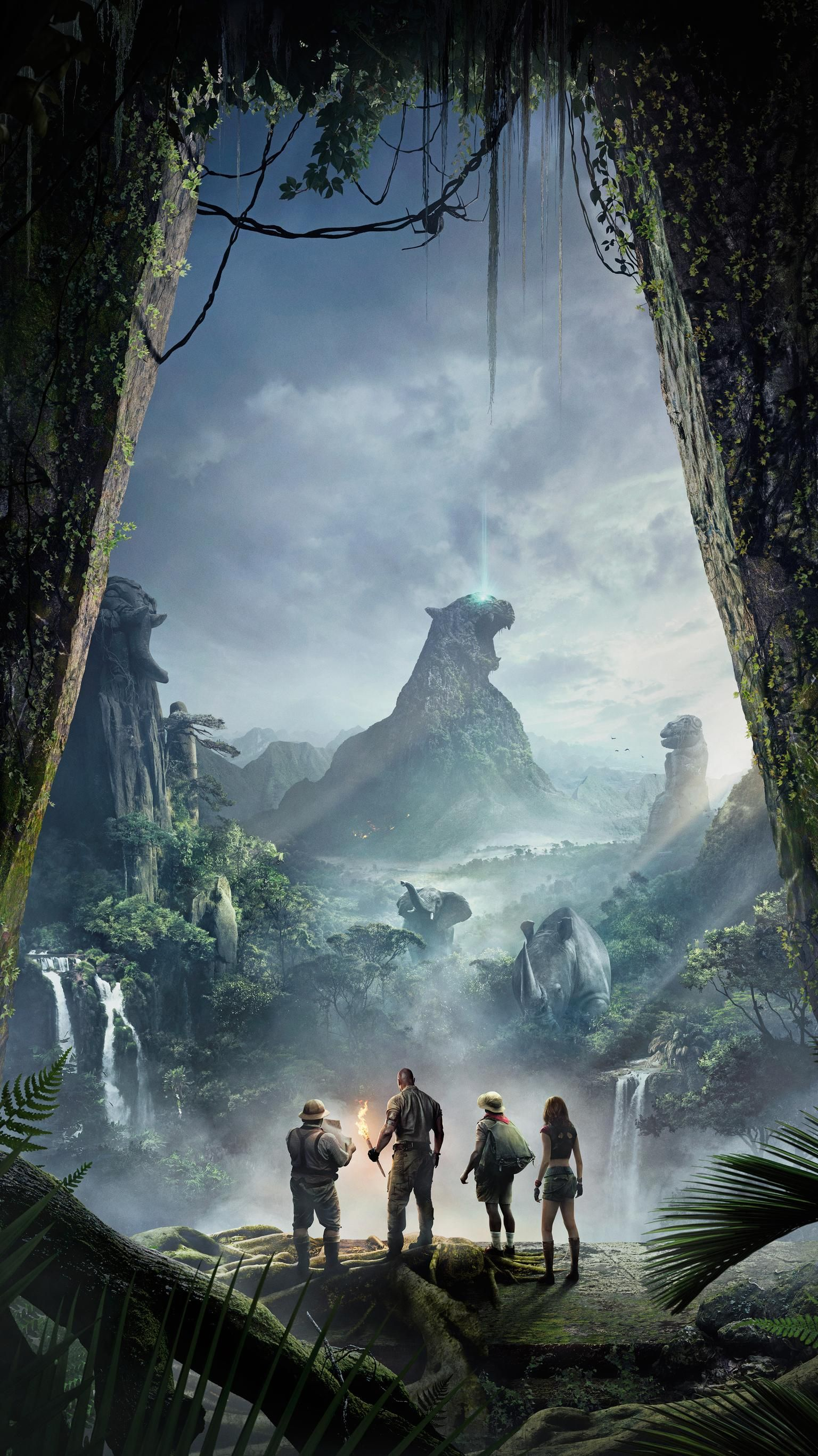 Jumanji to the Jungle (2017) Phone Wallpaper in