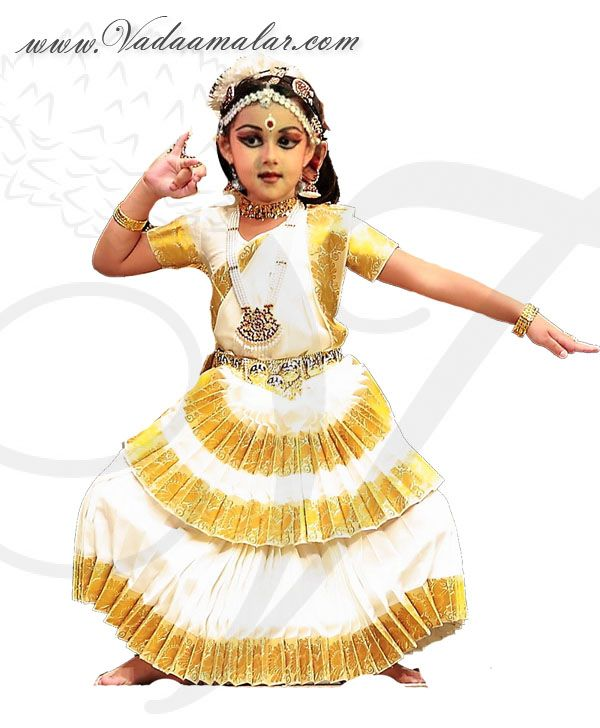 c32231b95047 Mohiniattam Kerala Traditional dance dress costumes children kids costume