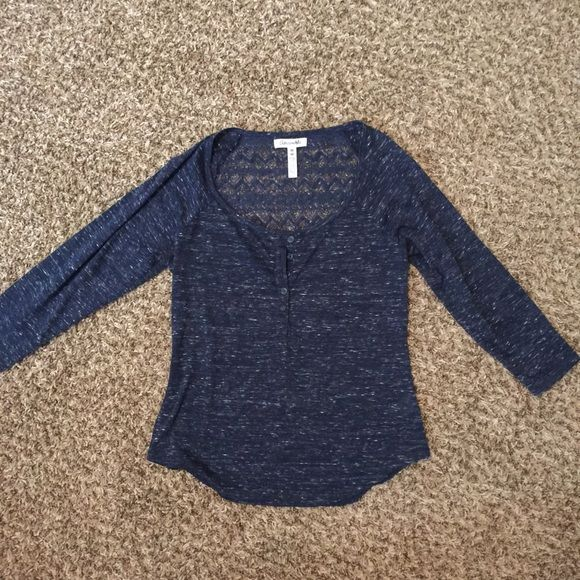 Aeropostale 3/4 sleeve crochet back shirt medium Worn once! Perfect condition! Aeropostale Tops Blouses