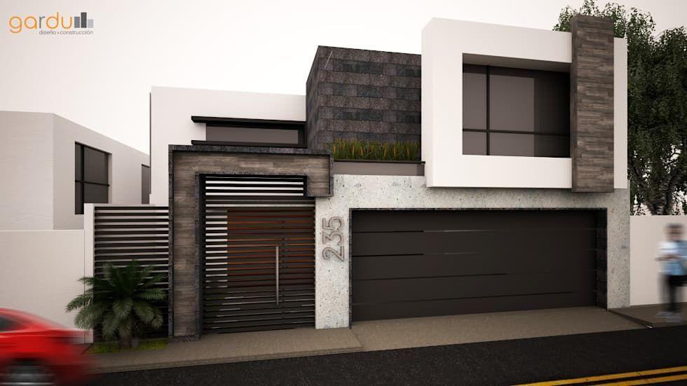 Fachada Minimalista  Casas de estilo minimalista por GarDu - casas minimalistas