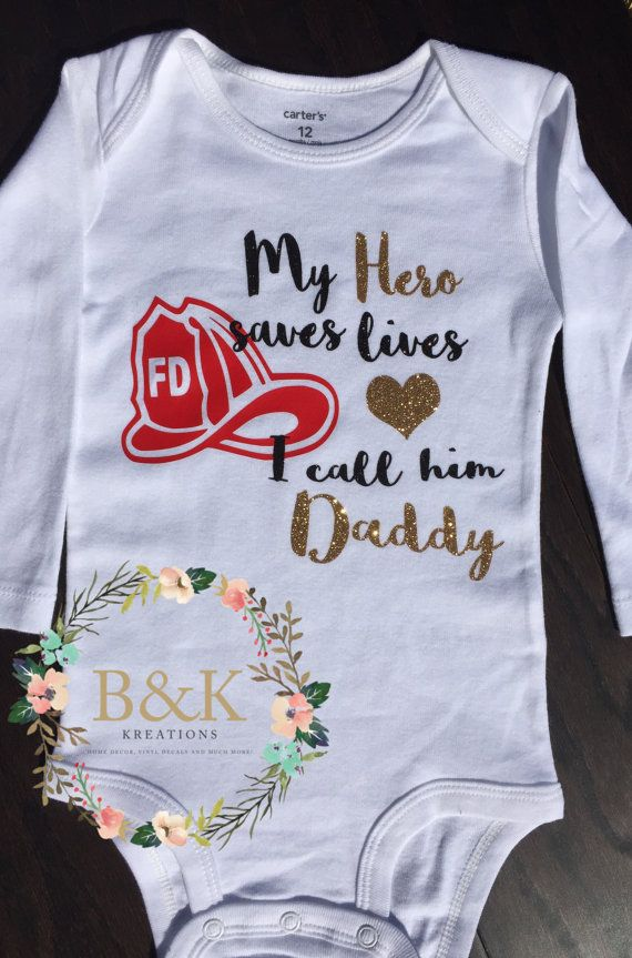 Future Firefighter Funny Baby Onesies /& Hat Baby Shower Gift Set Unisex newborn