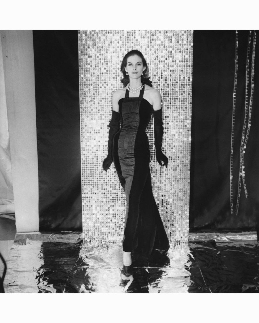 Anne St. Marie in Givenchy Earing Straight Halter-Neck Velvet-and ...