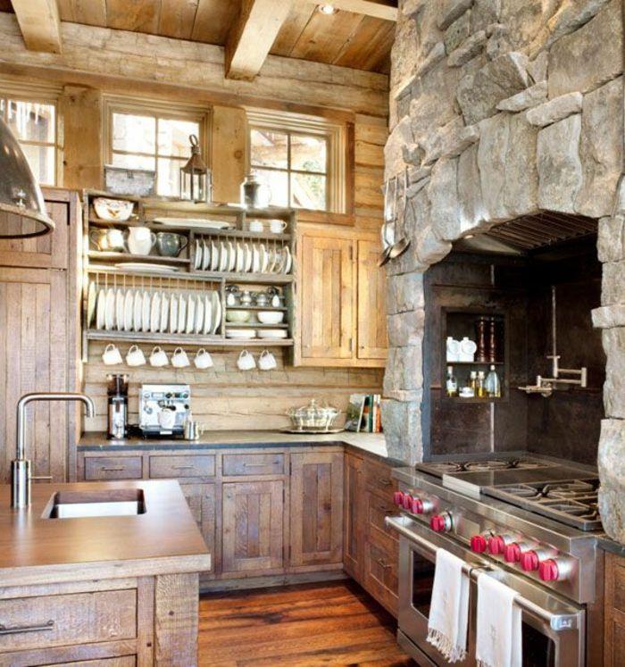 Elegant La Cuisine En Bois Massif En Beaucoup De Photos! Kitchen Cabinet ...