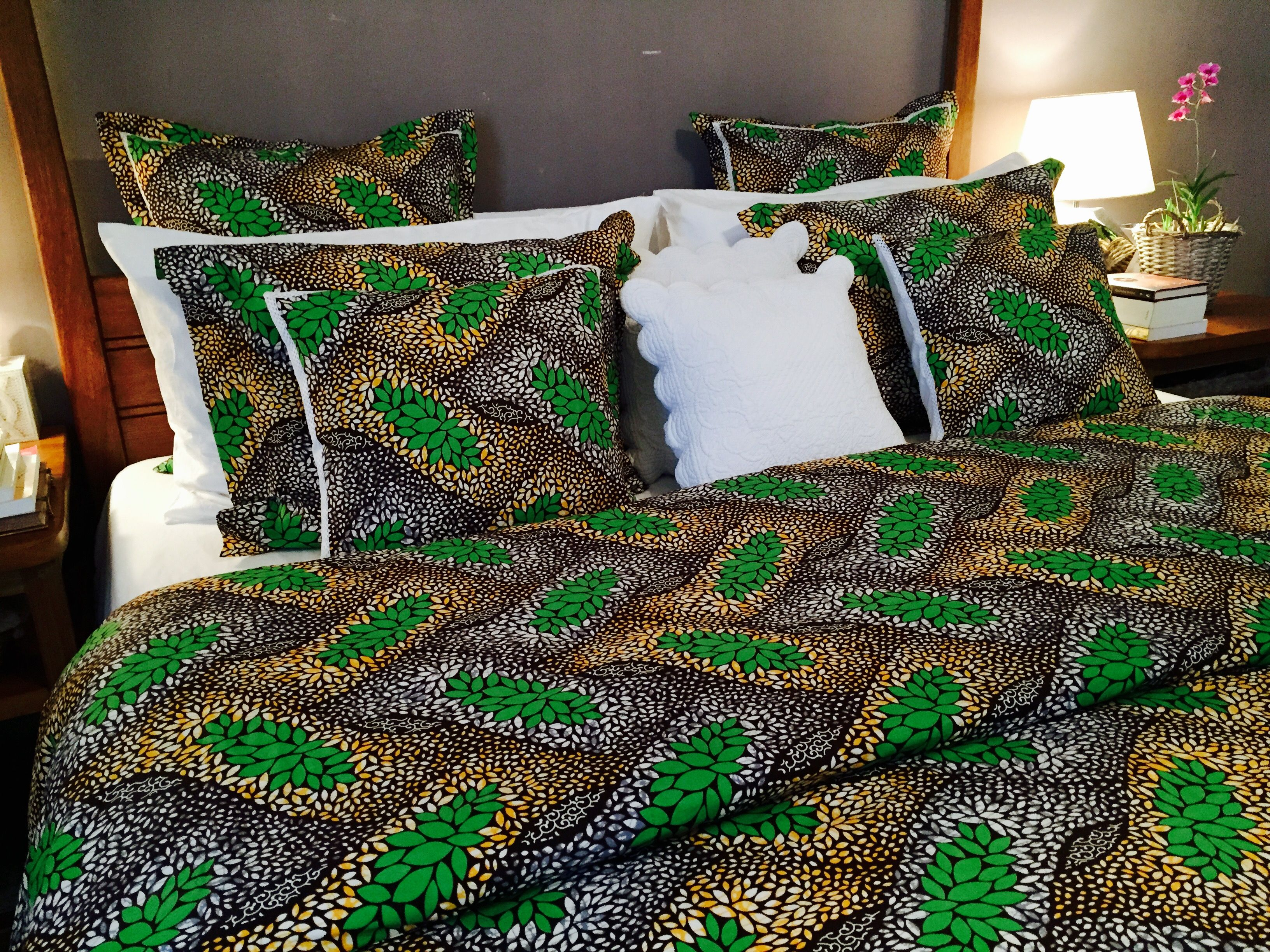 African Print Used For Bed Cover Set Wax Bedcover Idee