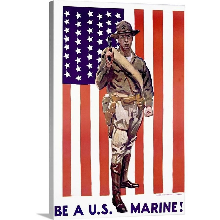Greatbigcanvas Be A U S Marine Vintage Poster Ah3611 Fin 24 16x24 In 2020 Vintage Posters Canvas Prints Types Of Art