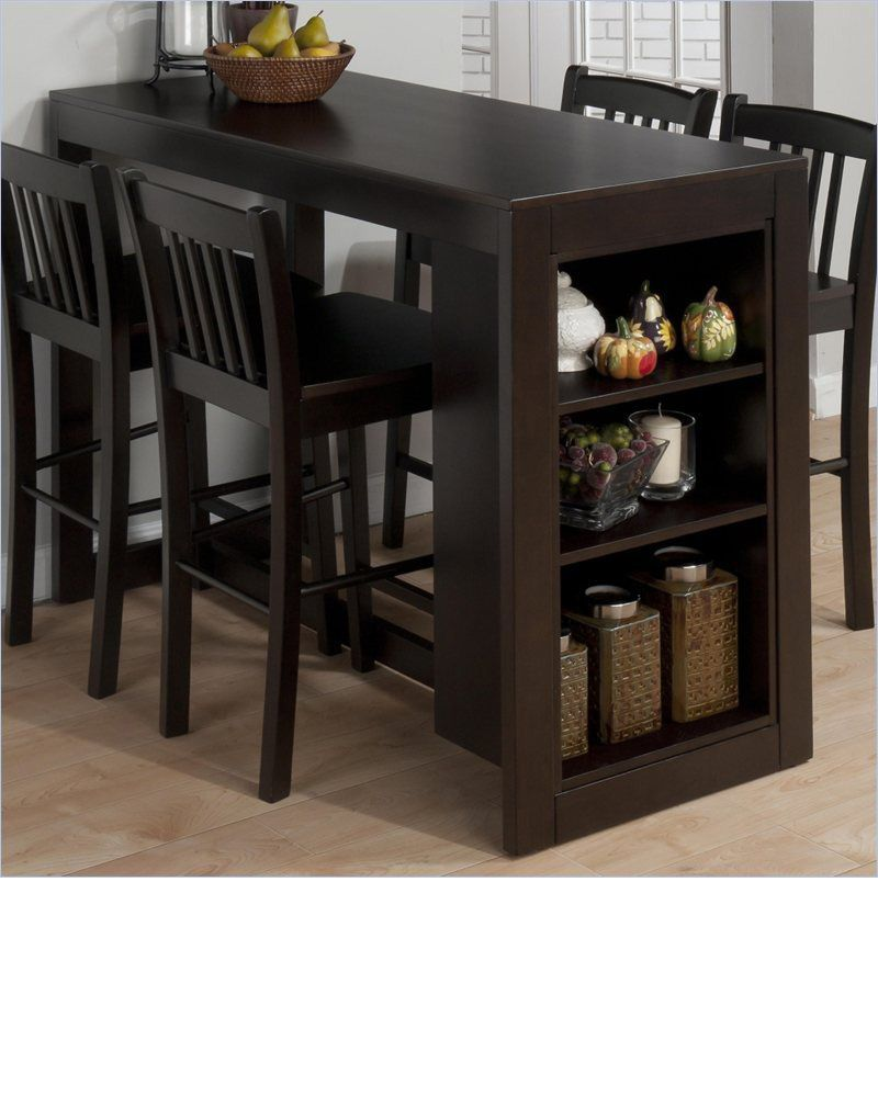 Bestia Albuquerque Bar Height Table With A Storage  Entertainment Glamorous Kitchen Table With Storage Underneath Inspiration