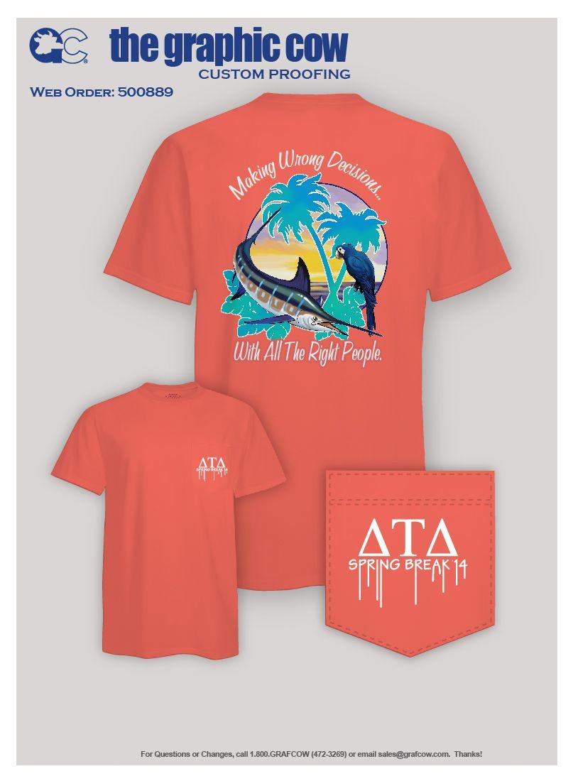 Delta tau delta marlin design sorority shirts for Southern fraternity rush shirts