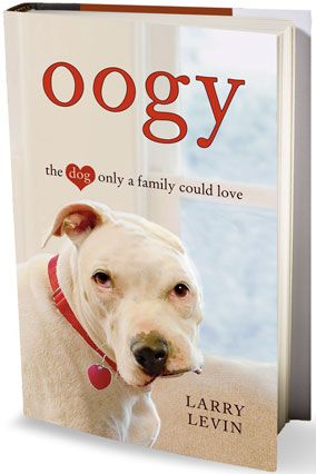 """Rescued barely alive in a police raid, Oogy, an Argentine Dogo (a little-known breed), goes to live with Levin and his family. Through Oogy, Levin learns to deal with his own, less visible wounds and observes the dog's effect on other emotionally scarred people: """"If this dog can go through the hell he did and emerge capable of giving and generating as much love as he does, so can they."""" — Karen Holt"""