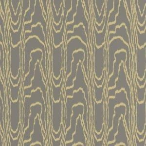 Wallpaper - Resembling the lines in hardwood floors, this wallpaper pattern is featured in gold and taupe.