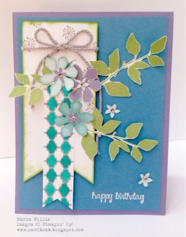 Maria Willis www.cardbomb.blogspot.com Stamping' Up! Serene Silhouettes #WWYS17 What Will You Stamp?
