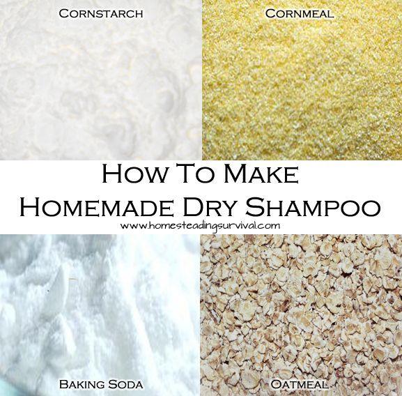 How To Make Homemade Dry Shampoo! More info here: http://homesteadingsurvival.com/how-to-make-homemade-dry-shampoo/