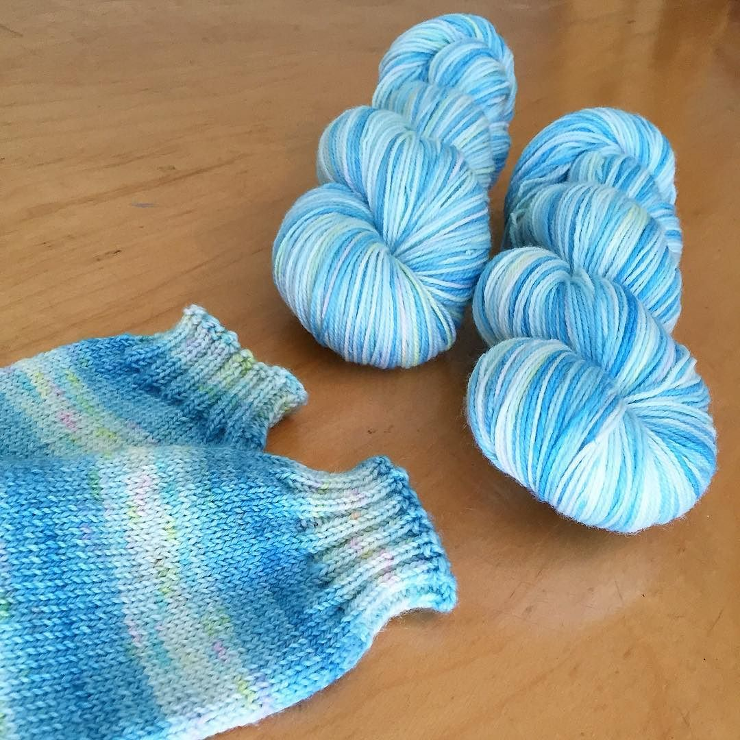 This yarn is truly a mash-up. You get the fun of a quickly ...