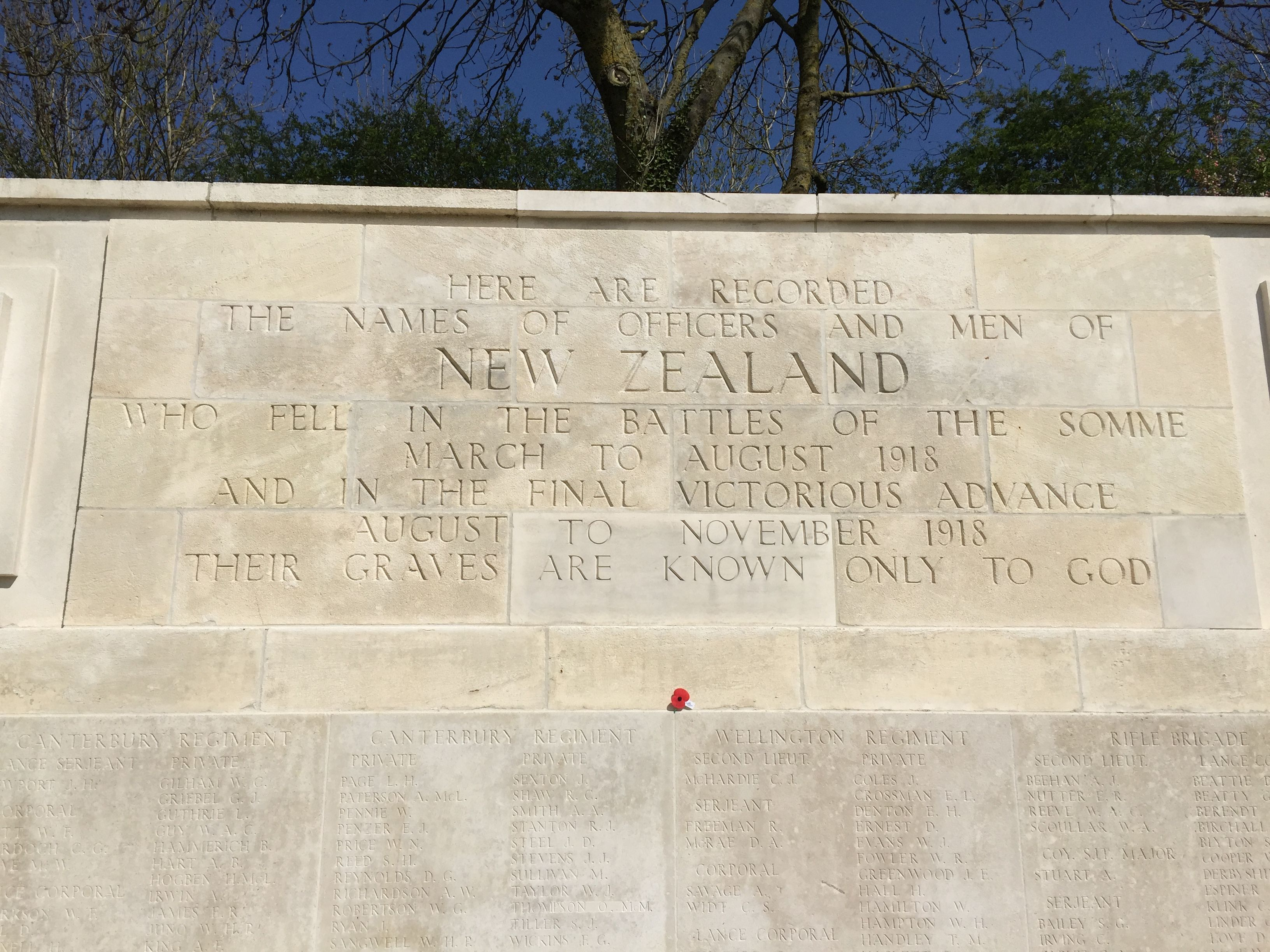 Grevillers British Cemetery ( New Zealand Memorial) Grevillers ...