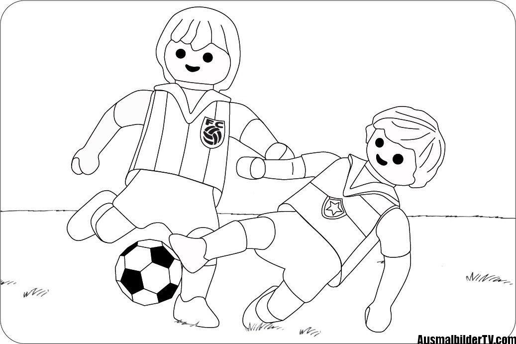 Ausmalbilder Kostenlos Fussball Spieler Coloring Pages Playmobil Coloring Books
