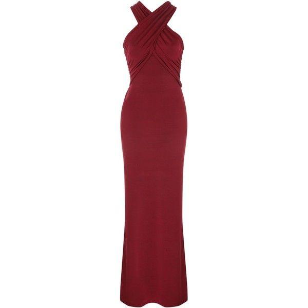 Jane Norman Cross Neck Slinky Maxi Dress Red Dress Maxi Long Red Dress Dresses