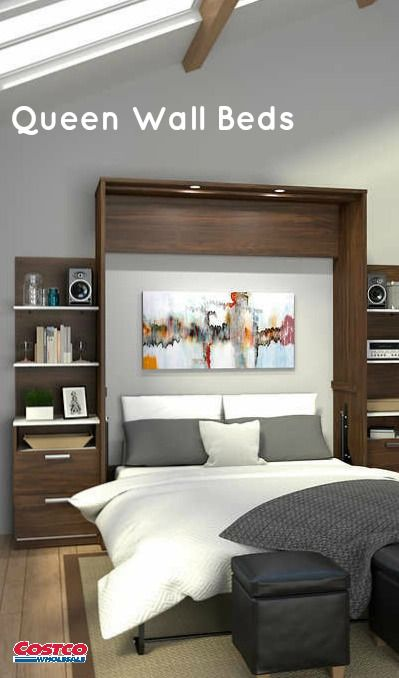 The New Cielo Queen Size Wall Bed With Two Base Storage Units With
