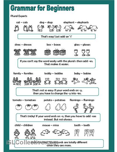 grammar for beginners plural experts worksheet free esl printable worksheets made by. Black Bedroom Furniture Sets. Home Design Ideas