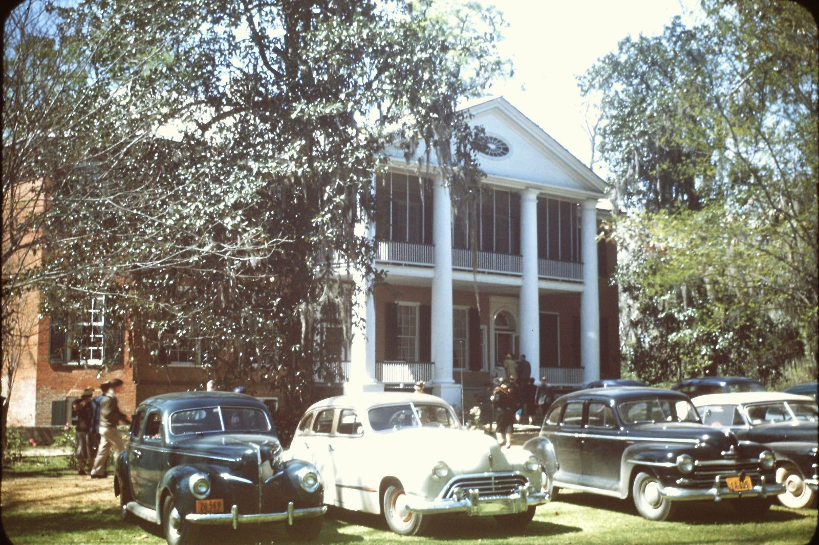 1949 NATCHEZ MS GLOUCESTER MANSION 35MM KODACHROME RED BORDER ...