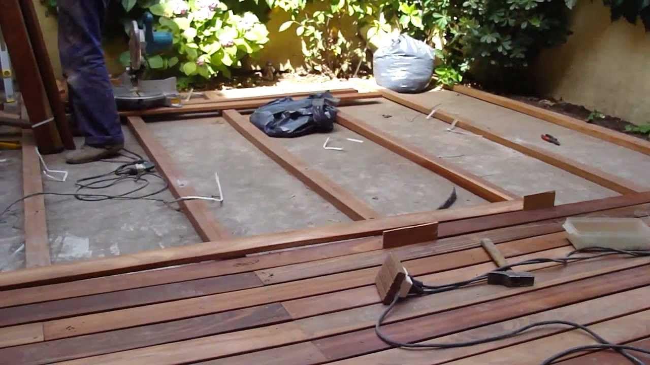 Como Instalar Deck De Madera Deck Madera Piso Flotante De