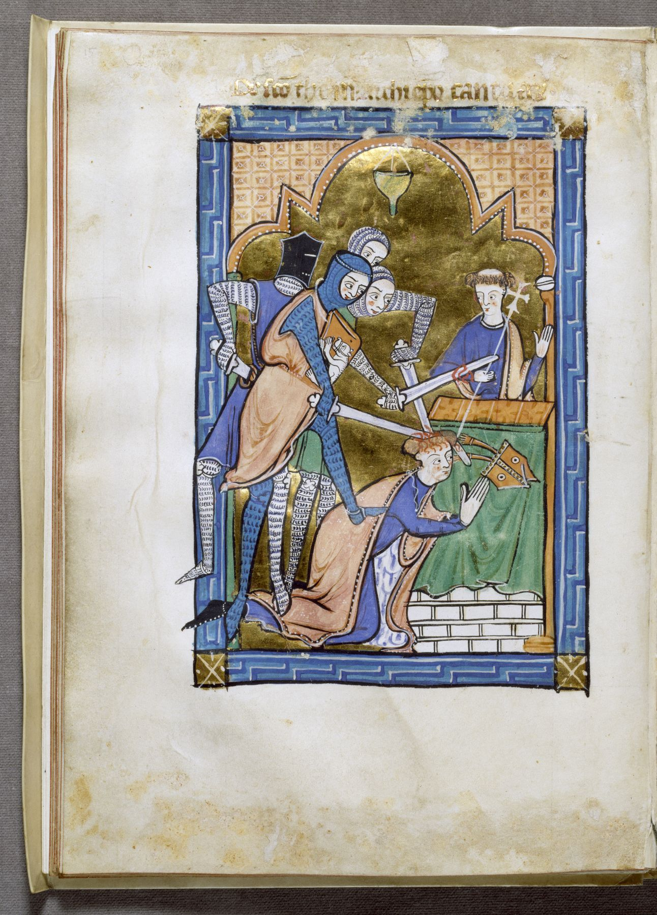 this miniature from an english psalter presents a spirited account file english martyrdom of saint thomas becket walters open reverse