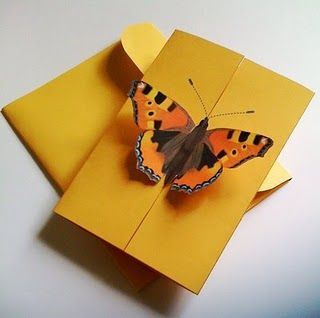 card with butterfly