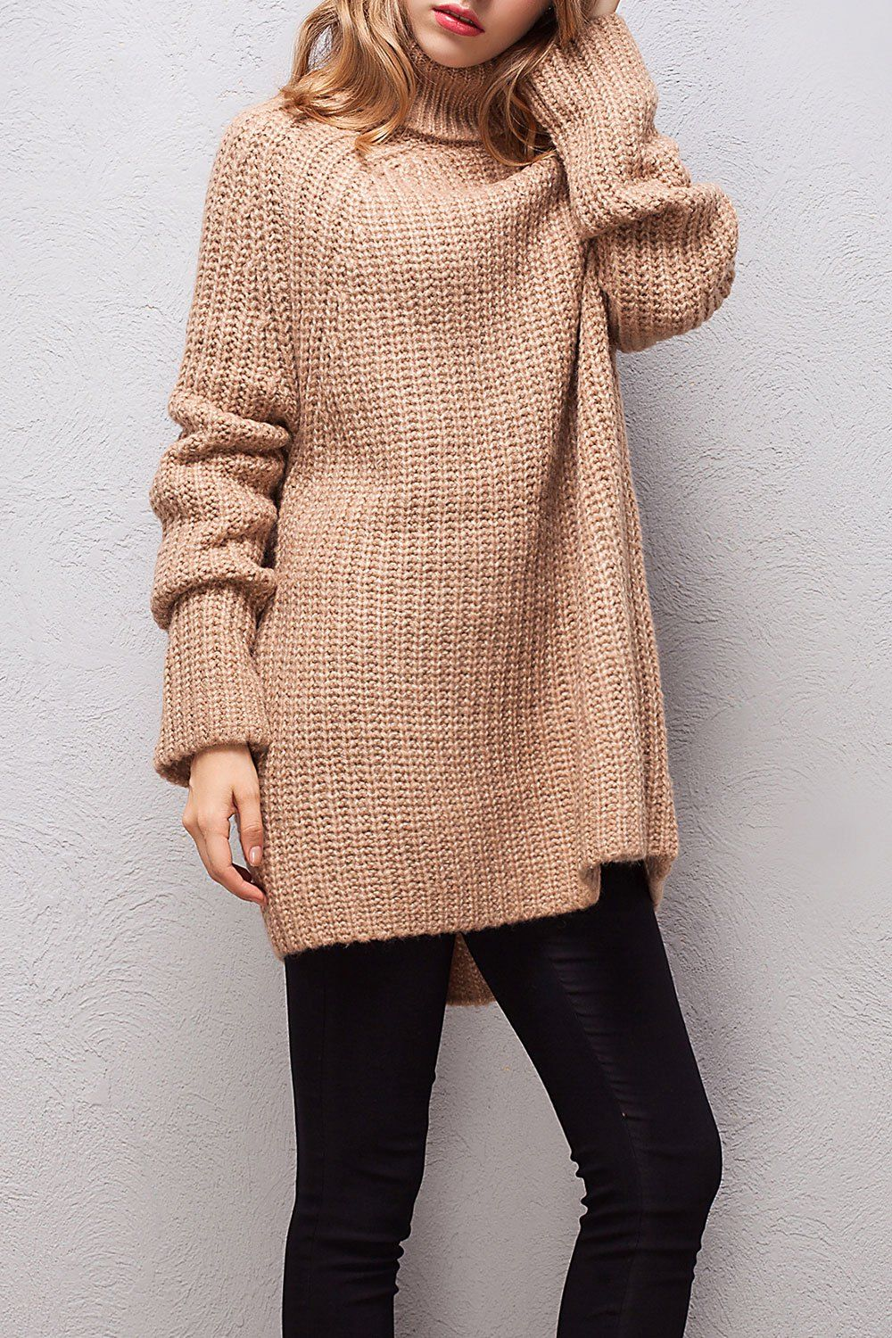 Turtleneck High Low Long Sweater | Long sweaters, High low and Clothes