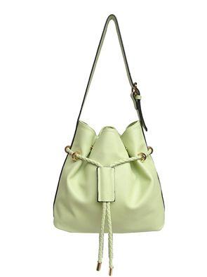 Mint Quinn Drawstring Handbag