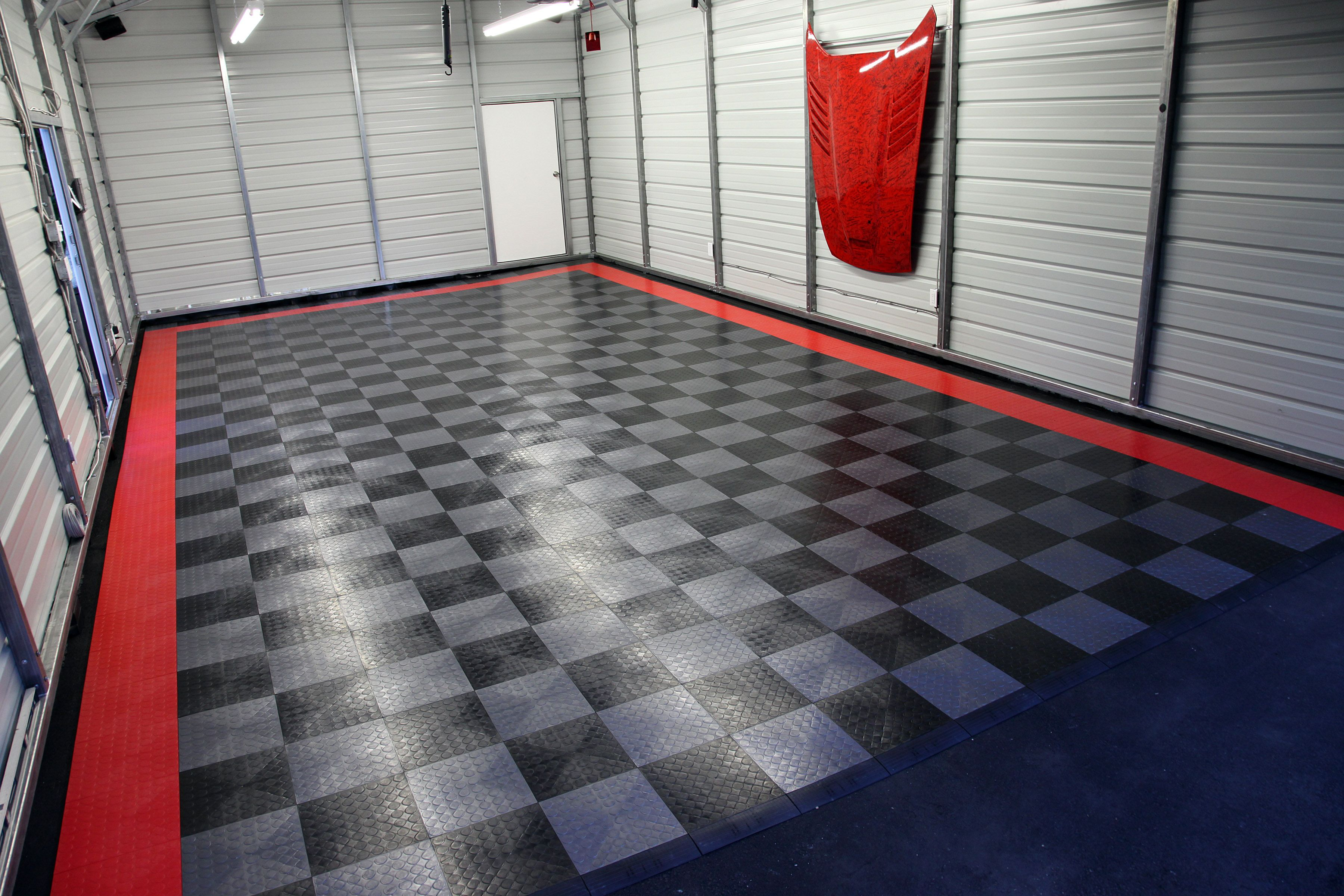 Garage flooring you can use rubber flooring or laminate flooring