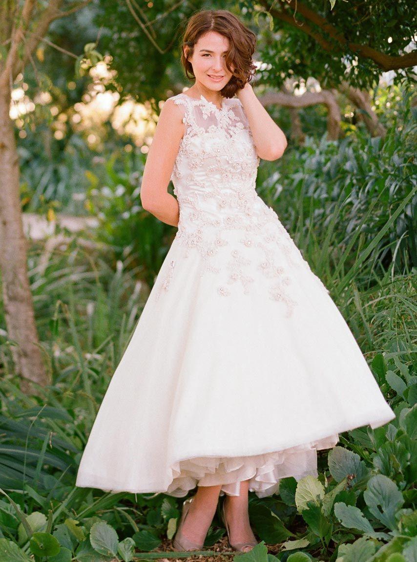 Fabulous  Reasons To Love Tea Length Wedding Dresses
