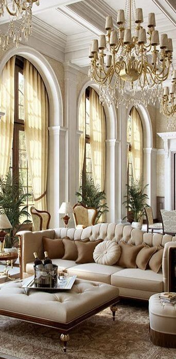 Opulent Traditional Style Formal Dining Room Furniture Set: .Windows...gorgeous Chandelier...so Magnificent And