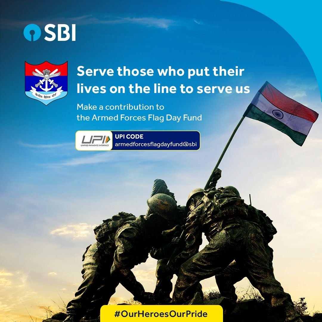 The Three Forces Unite To Make India Invincible Show Your Solidarity By Wearing The Armed Forces Flag And Donati Armed Forces Flag Day Armed Forces Servicemen
