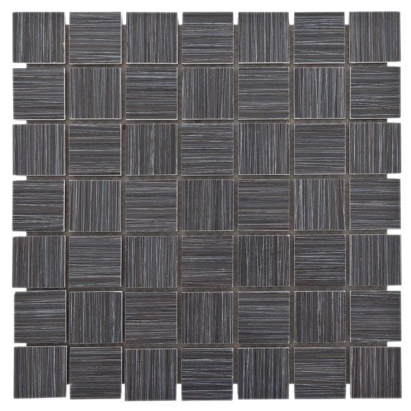 Runway Ebony Mosaic Porcelain Tile Love This Use For Shower Floor And Cut Into Sections To As Strip Just Below Chair Rail